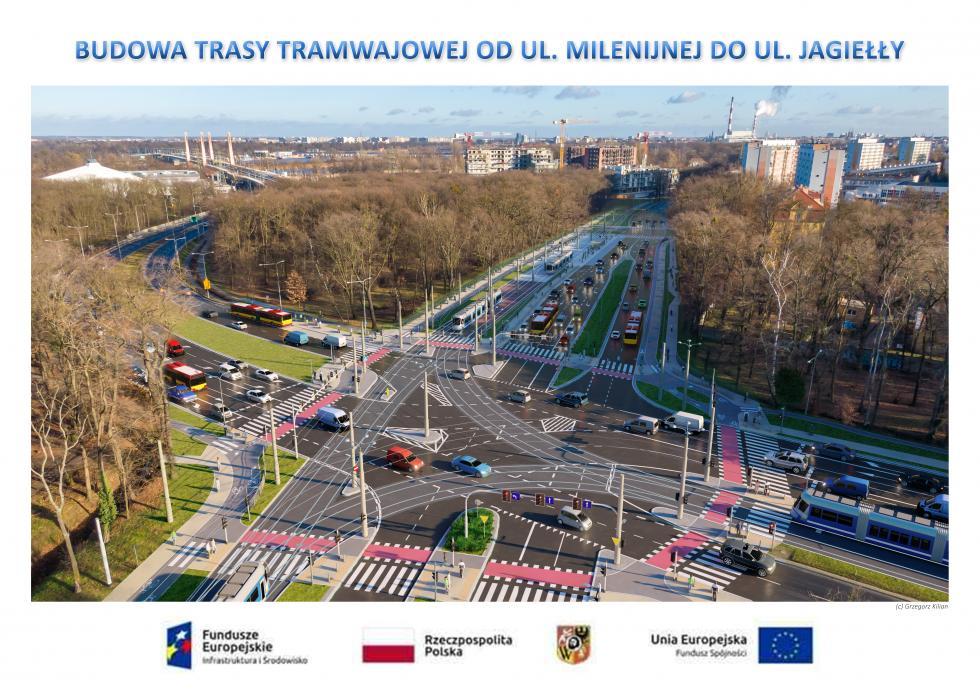 Popowicka/Milenijna/Pilczycka - zmiany worganizacji ruchu od8 maja (zobacz mapkę)