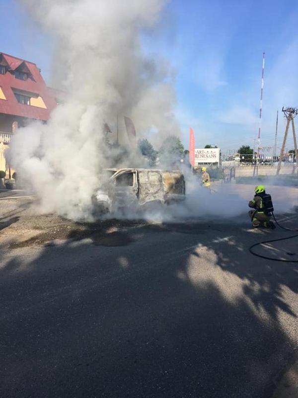 Spłonął bus