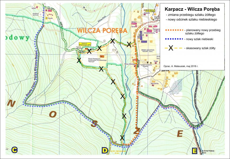 Zmiany na szlakach iremont wKarkonoskim Parku Narodowym